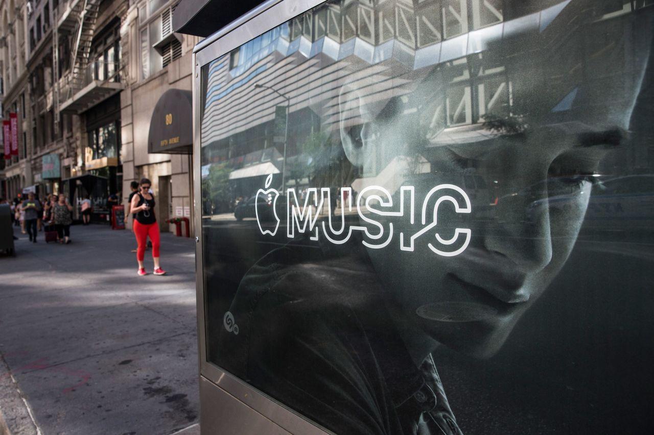 Apple Music在美國的付費訂戶數已超過Spotify。(法新社)