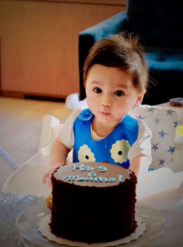胡婷婷兒子滿6個月。圖/摘自臉書