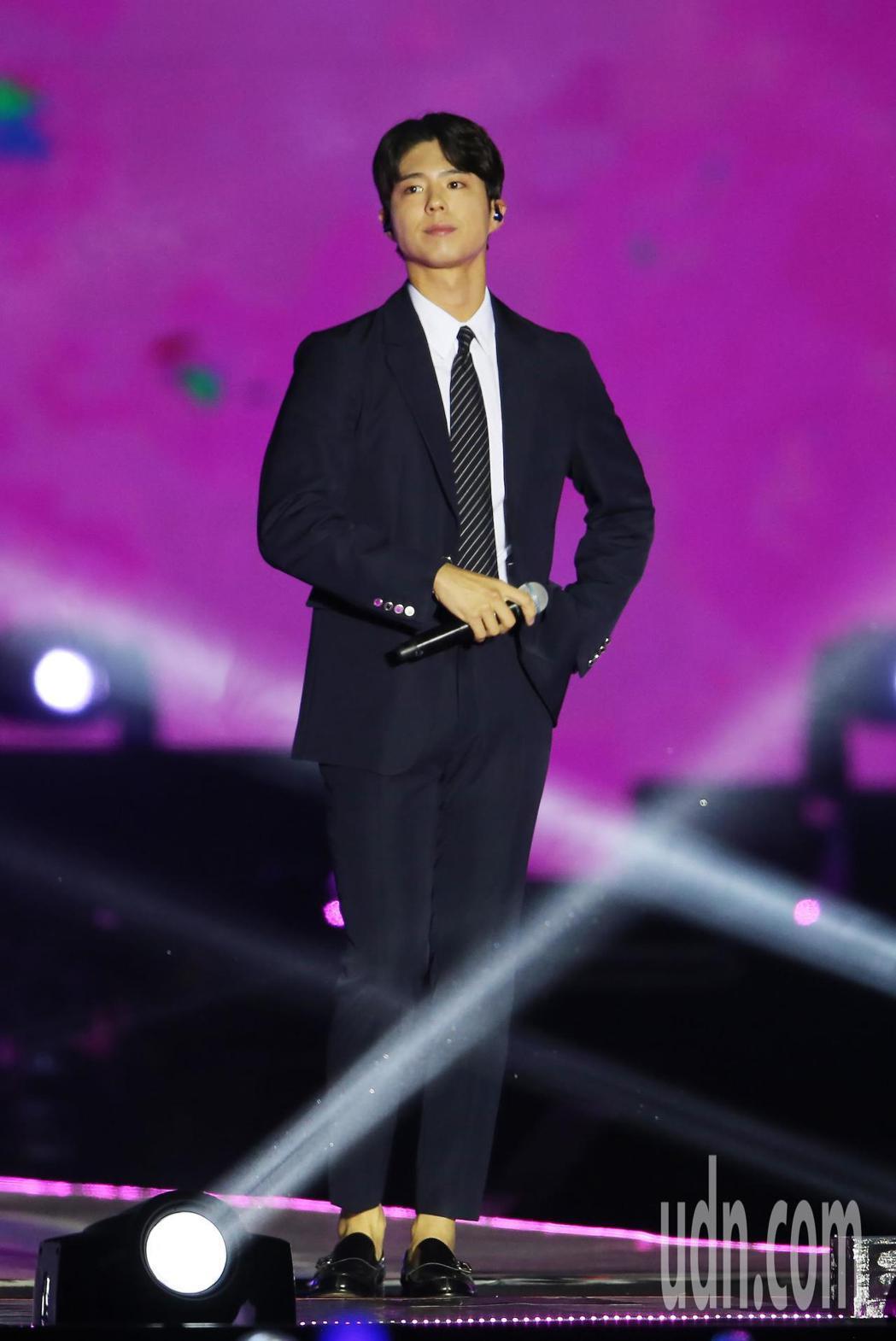 南韓藝人朴寶劍(圖)晚間在南港展覽館舉辦粉絲見面會。記者許正宏/攝影