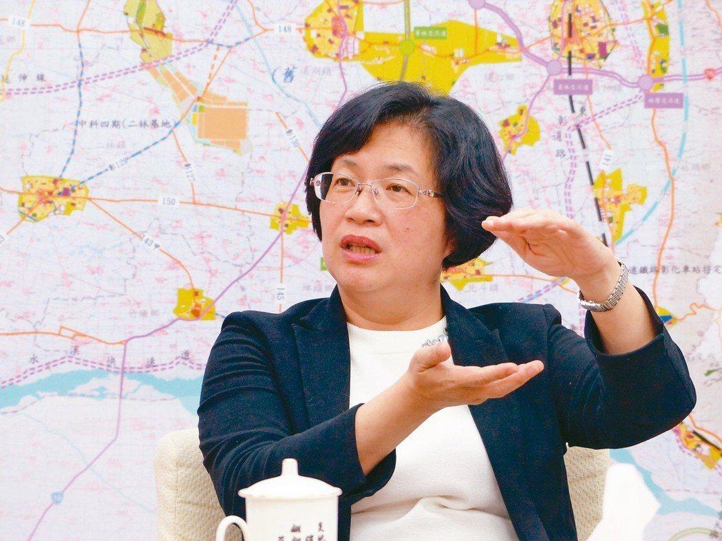 彰化縣長王惠美。 圖/聯合報系資料照片