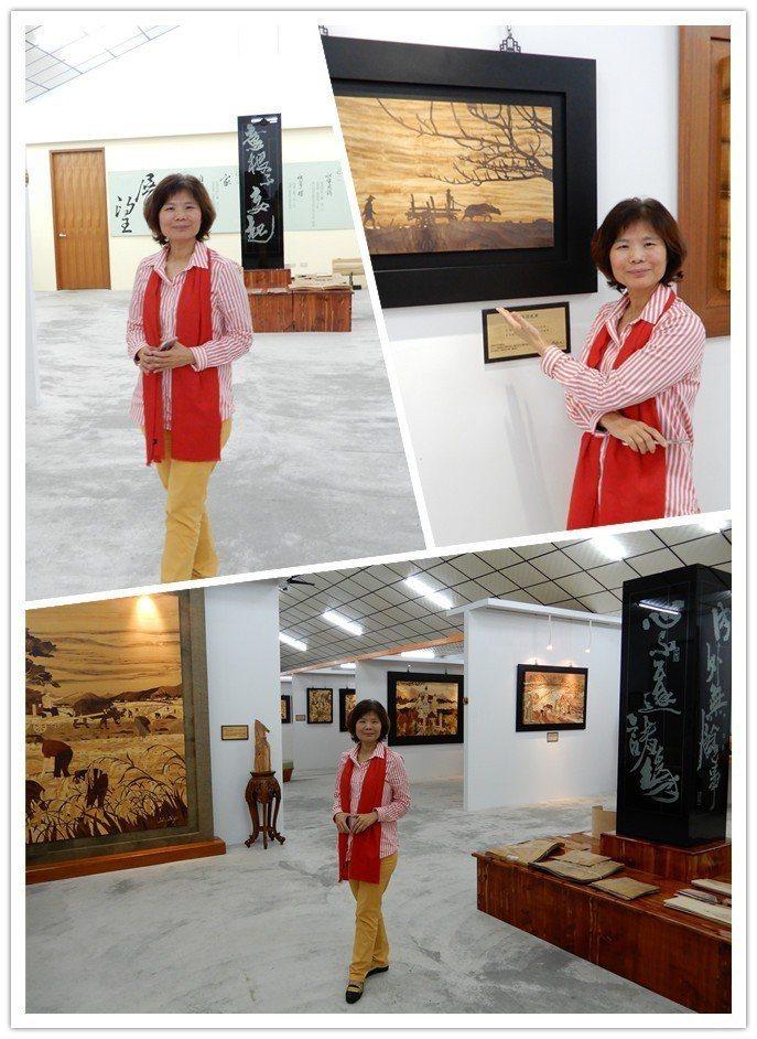 木箔原創工作室,展示李審許多精彩的作品,可預約參觀。 翁永全/攝影