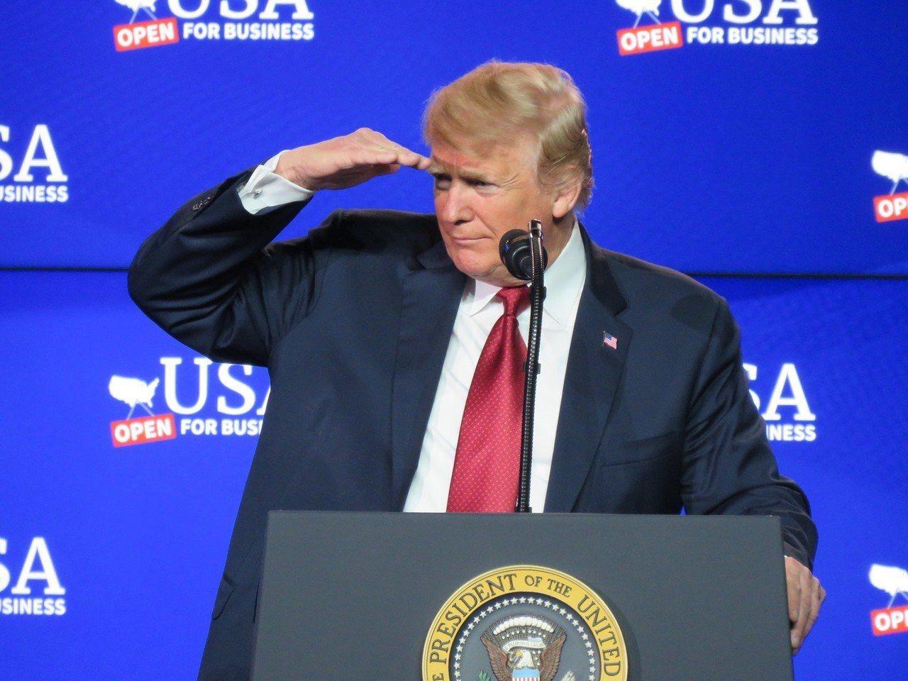 美國總統川普打猶太牌。 本報資料照片