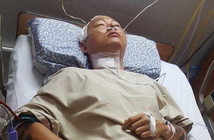 KK在泰國飯店跳水發生意外,在清邁醫院治療中。 圖/擷自KK IG