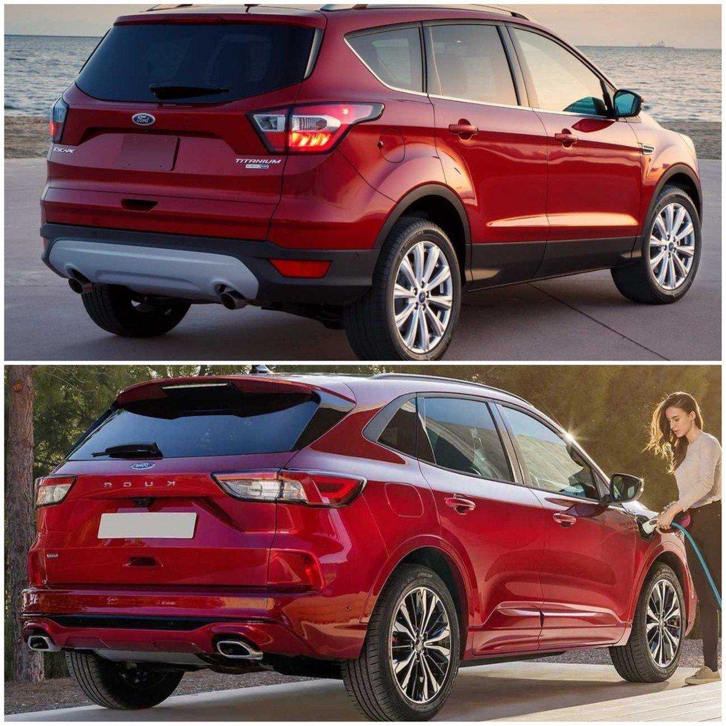 有別以往,新一代Kuga在D柱部份採用流線的造型。 摘自Ford