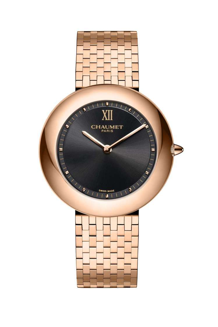Boléro系列腕表,18K玫瑰金表殼、表鍊,表徑36毫米,黑色太陽紋拉絲表盤,...