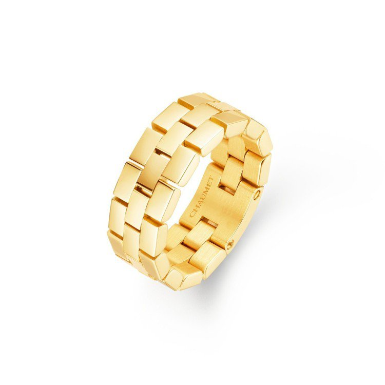 Boléro系列18K黃金戒指,約82,700元。圖/Chaumet提供