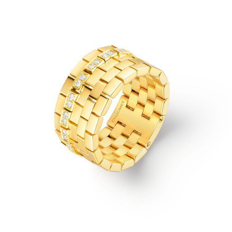 Boléro系列18K黃金戒指,鑲嵌明亮式切割鑽石,約22萬8,000元。圖/C...