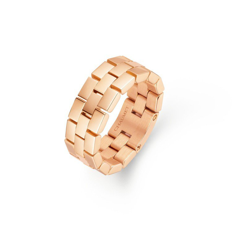 Boléro系列18K玫瑰金戒指,約82,700元。圖/Chaumet提供