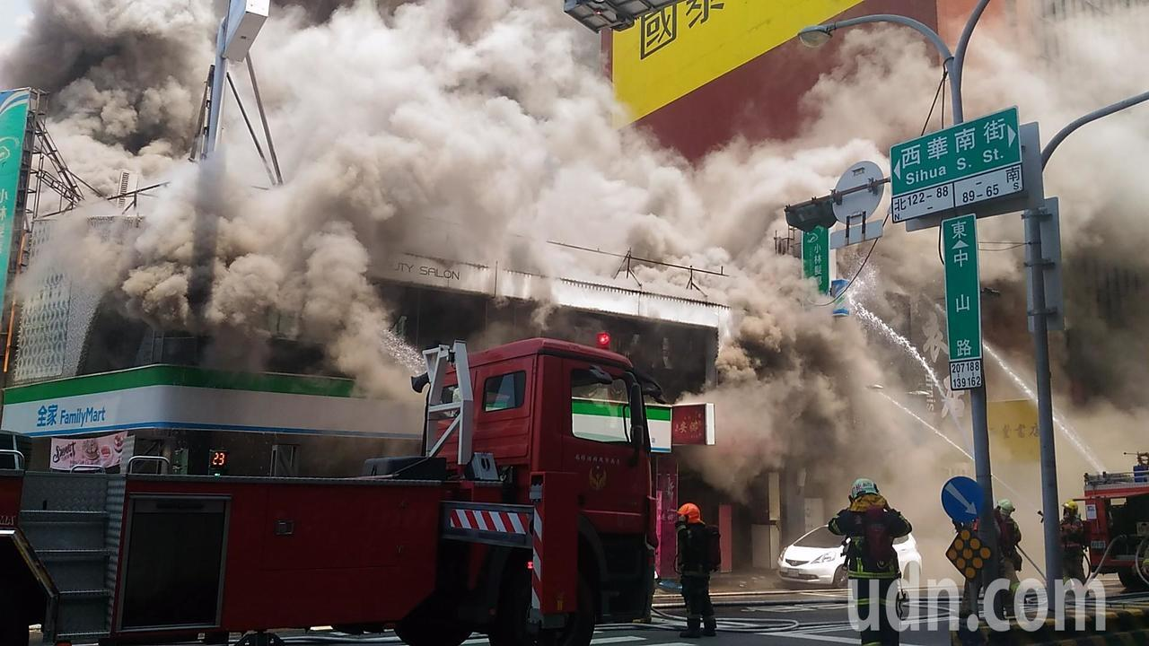 台南市中山路火警。記者黃宣翰/攝影