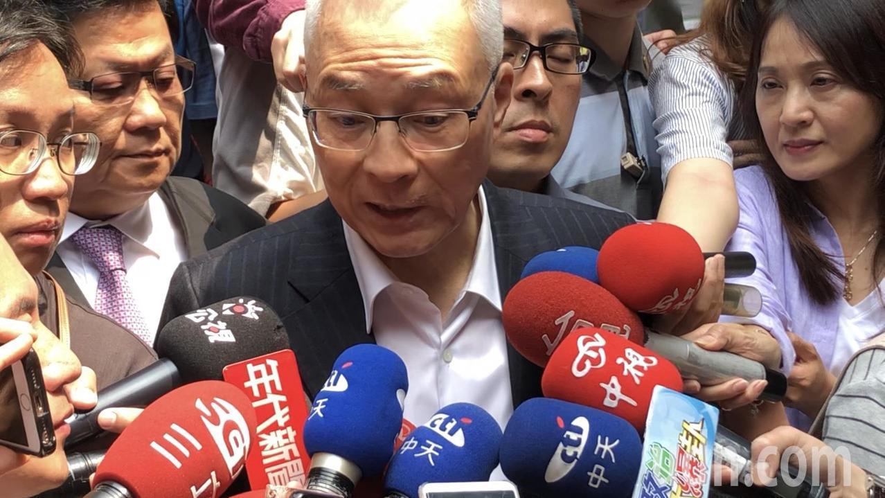 國民黨主席吳敦義表示,會用耐心誠意與有意參選總統人選繼續溝通,達成堅定共識。記者...