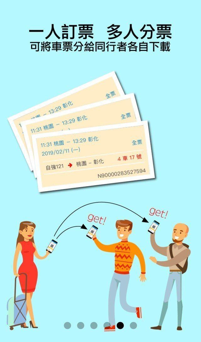 「台鐵e訂通2019」新版旅客訂票APP功能介面。圖/取自「台鐵e訂通2019」
