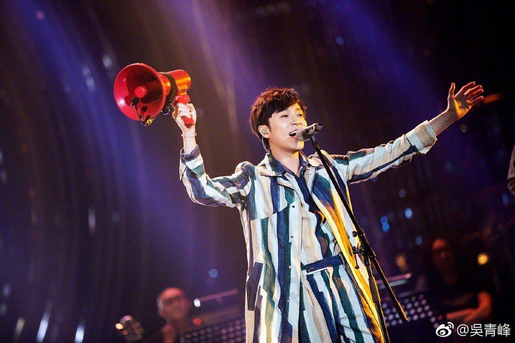 吳青峰將爭奪「歌手2019」的歌王寶座。圖/摘自微博