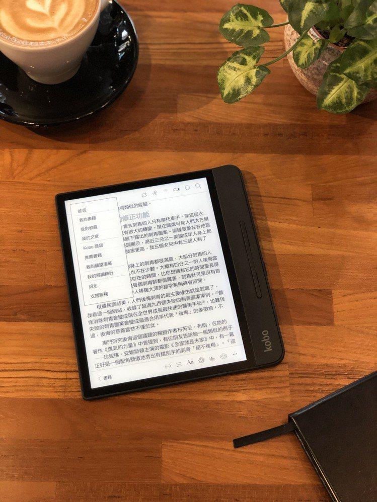 樂天Kobo宣布更新電子書閱讀器的中文化介面,可輕鬆利用中文輸入法做讀書筆記。圖...