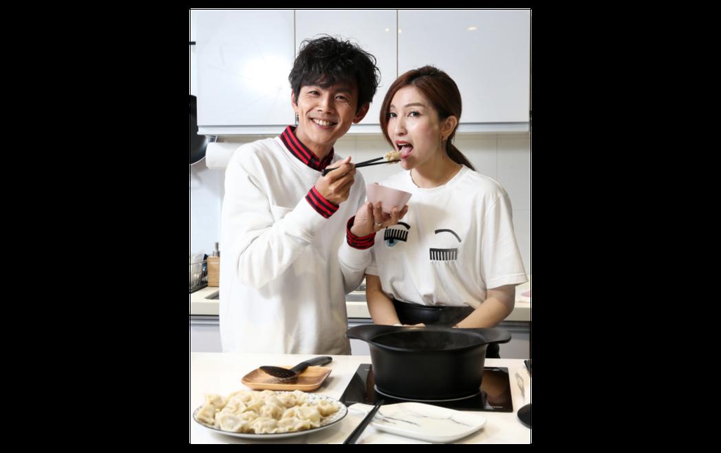 一起攜手在婚姻裡10多年,阿翔和老婆龔淑卿愈愛愈甜蜜。記者蘇健忠/攝影