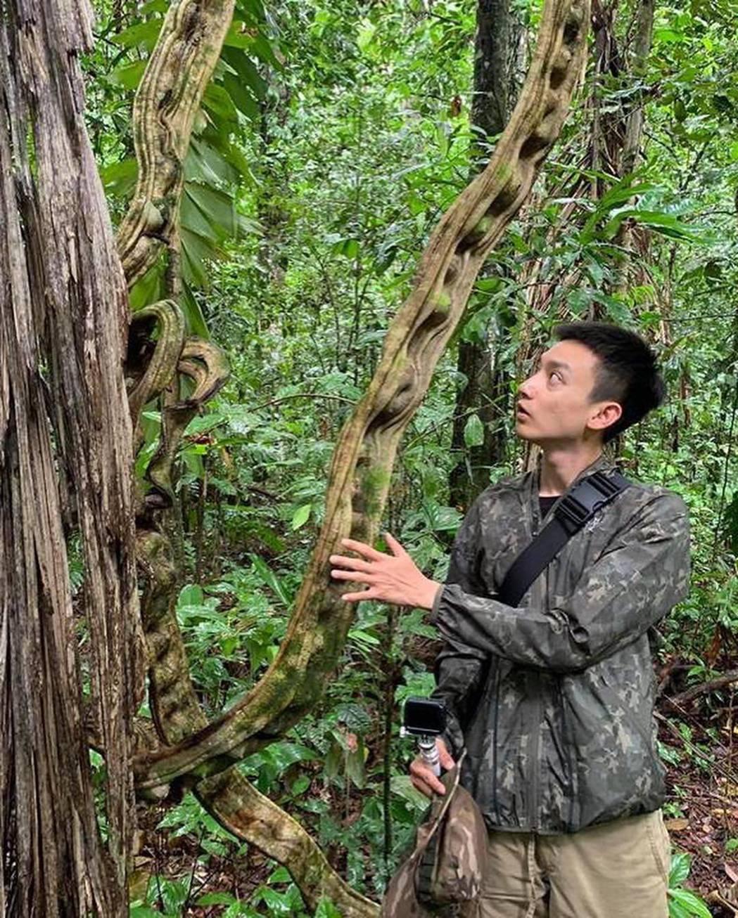 Eason深入亞馬遜叢林探險。圖/摘自IG