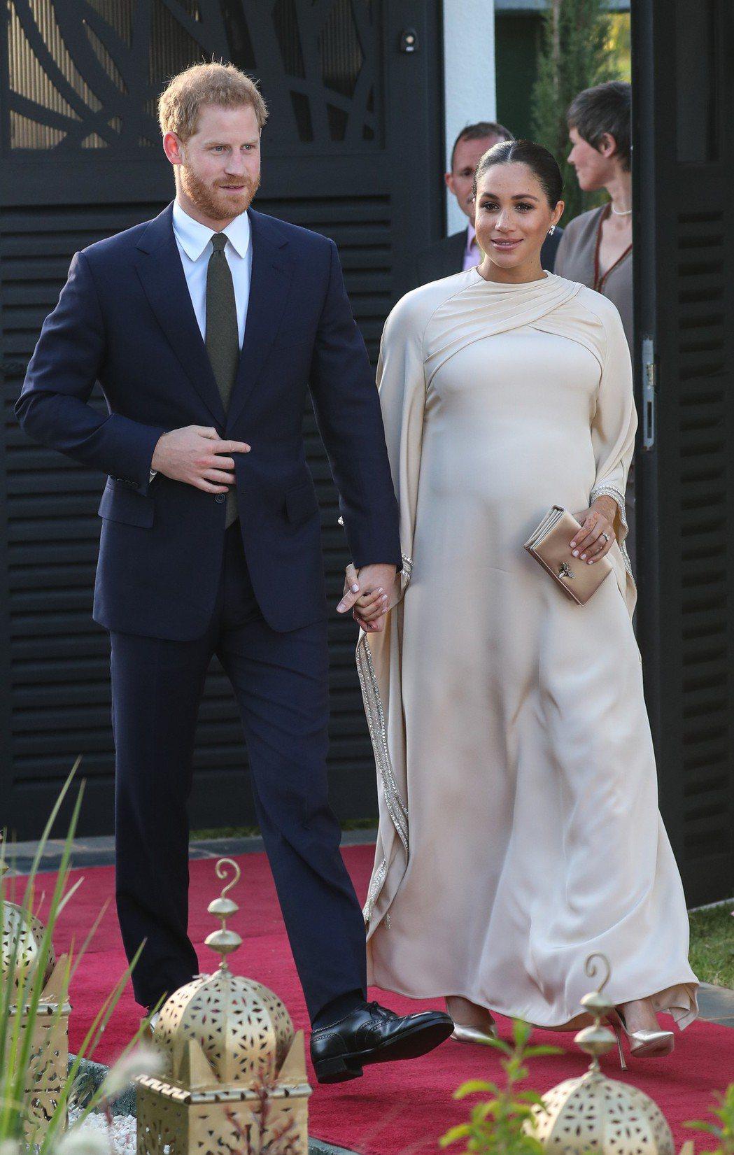 哈利王子與梅根馬克爾即將迎接他們的第一個小孩。圖/達志影像