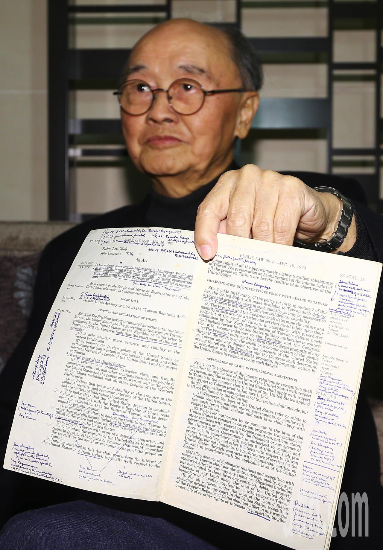 今年是台灣關係法40周年,外交部前部長、當年擔任我駐美大使館政治組一等秘書程建人...