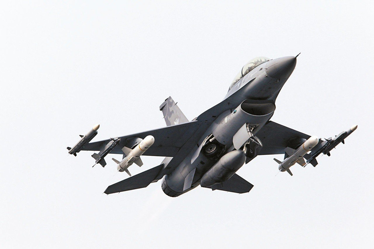 空軍F-16戰機。圖/聯合報系資料照片