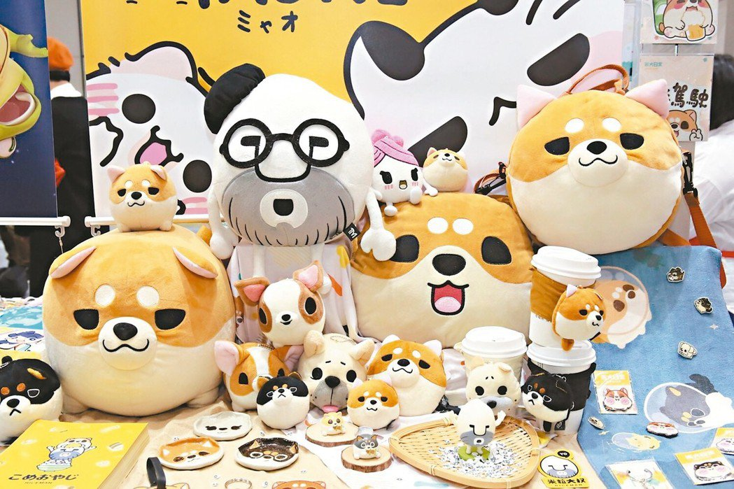 2019日本授權展展出「米粒大叔」,為大家介紹台灣好米及美食。 圖/聯合數位文創