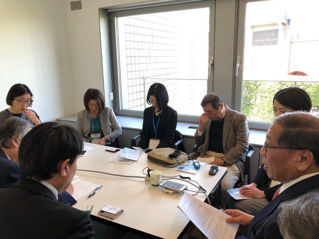 黃秘書長現場與日本紡織產業媒體座談。 紡拓會/提供