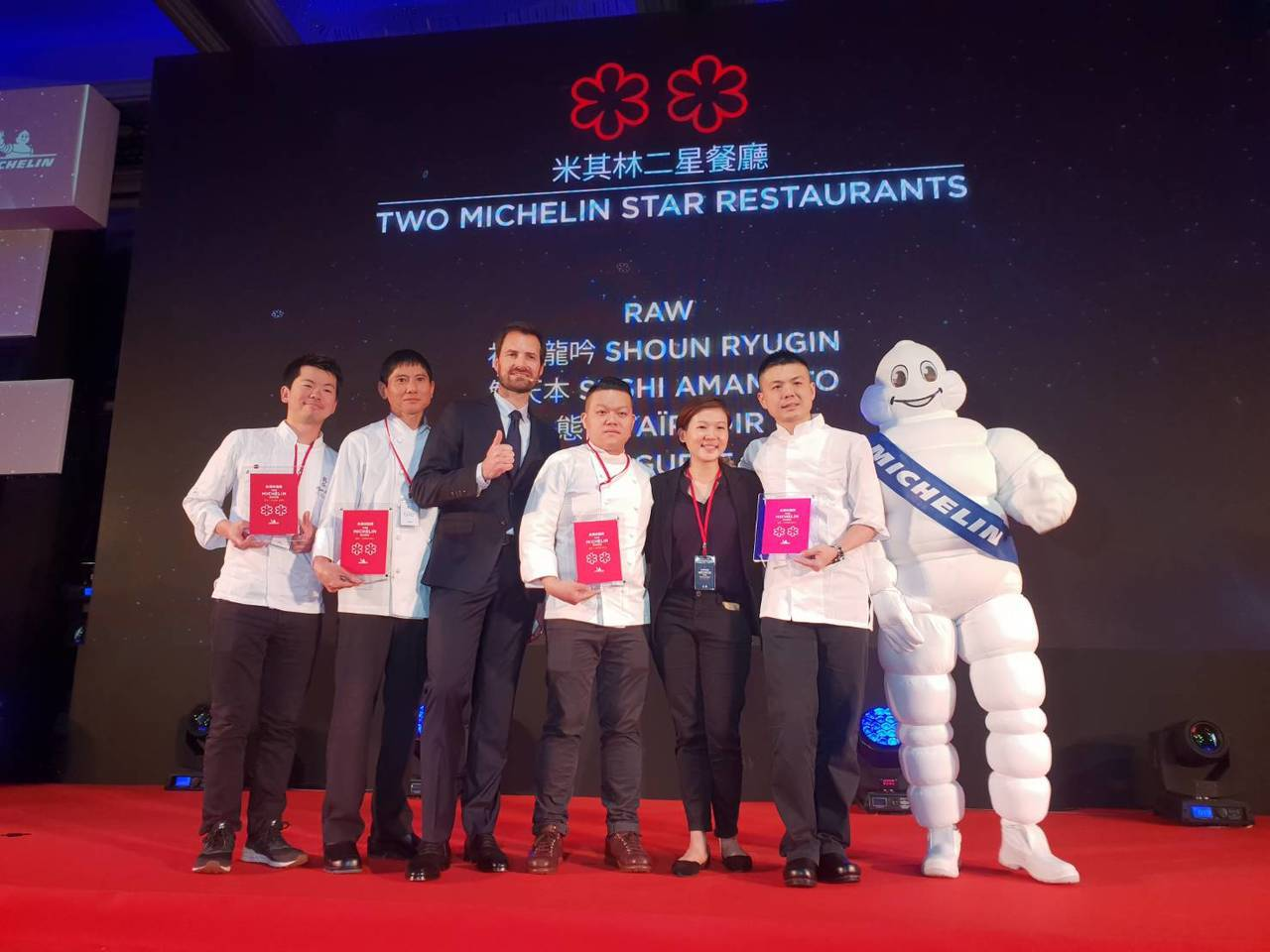 台北米其林2019二星餐廳合照。圖/聯合報