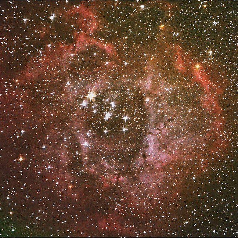 在合歡山觀測玫瑰星雲(NGC2244),雋永時空映現眼前。 【圖・楊登淵、仰望書...