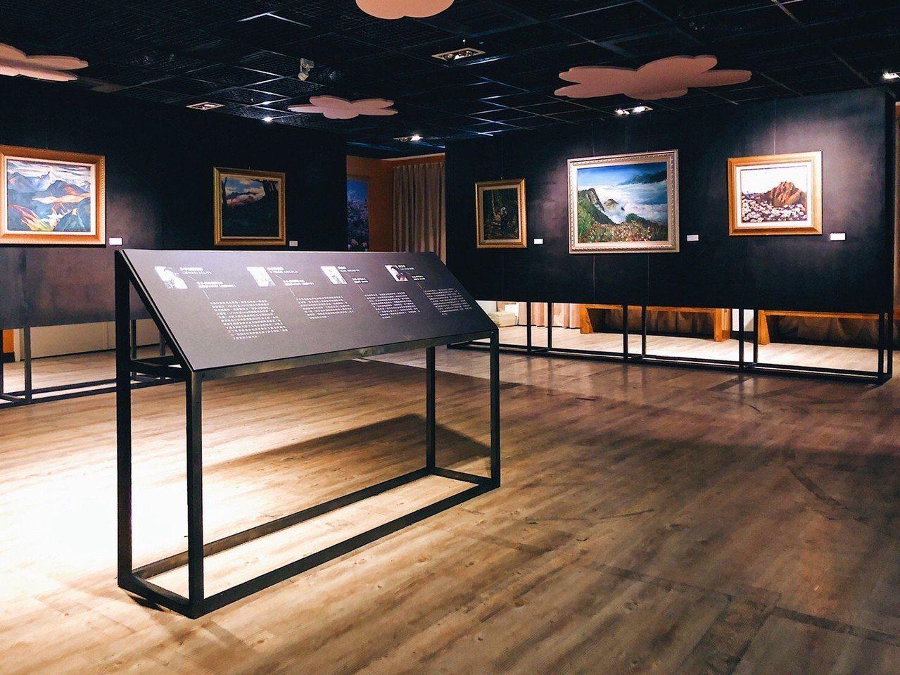 嘉義林管處10日起將在阿里山旅客服務中心2樓,舉辦「山形,繪」跨時空聯合畫展。圖...