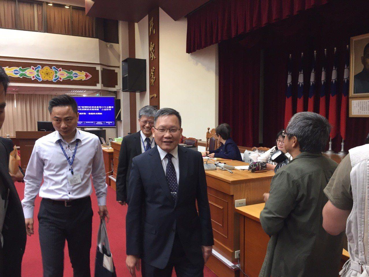財政部長蘇建榮。記者程士華/攝影