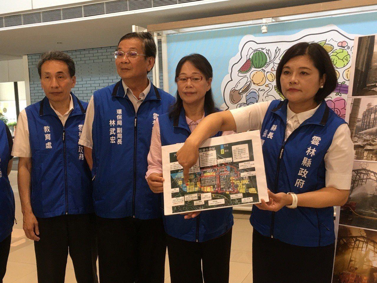 雲林縣長張麗善(右一)今天表示,針對六輕工安事故非常憤怒與難過。記者陳雅玲/攝影