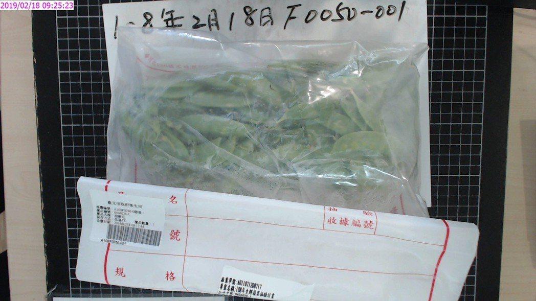 北市衛生局定期抽檢市場蔬果農藥殘留情況,今年2月首波檢驗50件,其中1件在環南市...