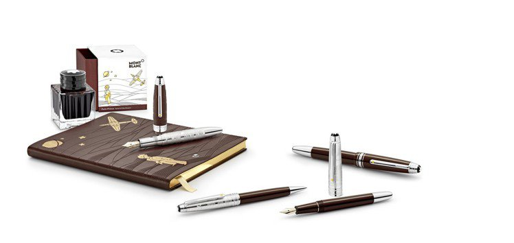 除了頂級筆具之外,萬寶龍還為大師傑作小王子系列推出了筆記本、墨水等組合。圖/Mo...