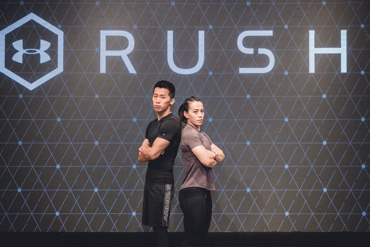 鞍馬王子李智凱(左)、舉重女神郭婞淳金牌陣容備戰2020東京奧運。圖/UA提供