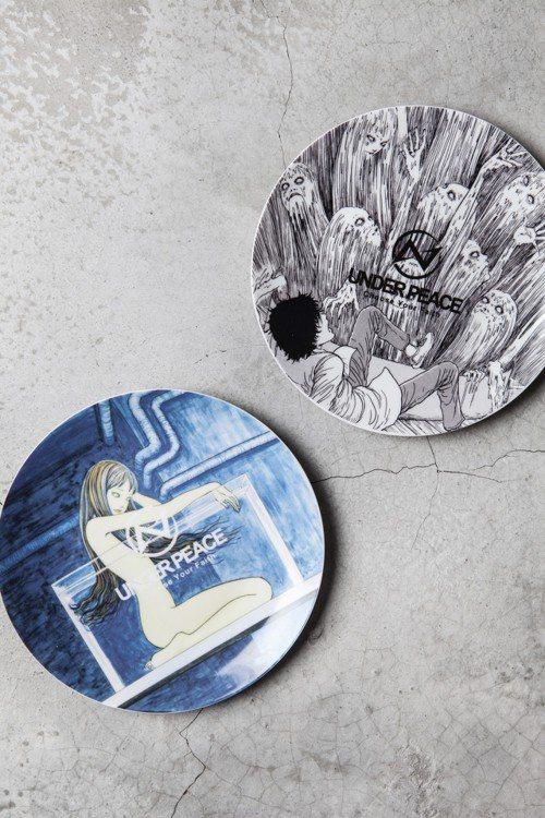 UNDER PEACE ×伊藤潤二聯名餐盤,售價680元。圖/UNDER PEA...