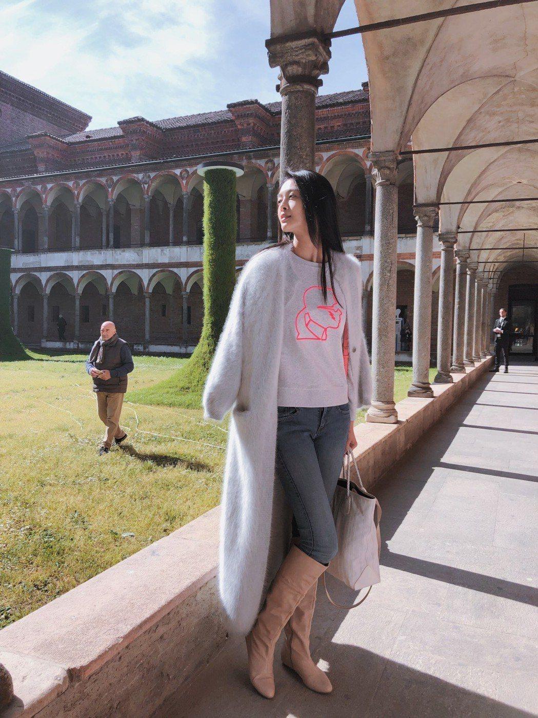 林嘉綺赴米蘭出席台灣策展「braIN TAIWAN」活動擔任時尚大使。圖/伊林提...