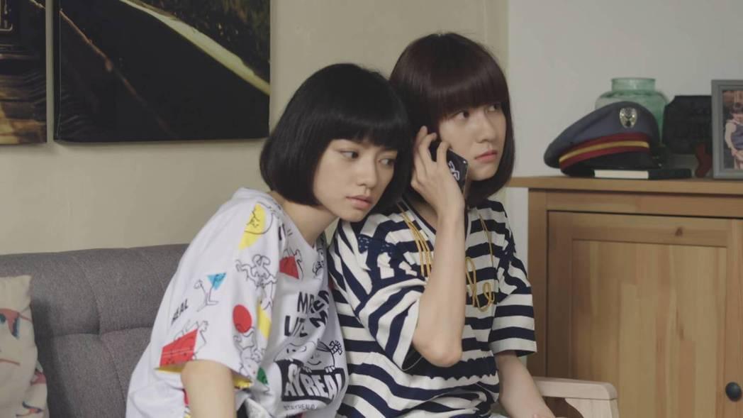 連俞涵(右)、姚愛寗飾演姊妹。圖/三立提供