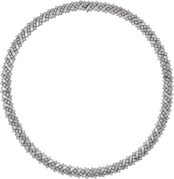 Reflection de Cartie系列項鍊,白K金鑲嵌鑽石,價格店洽。 圖...