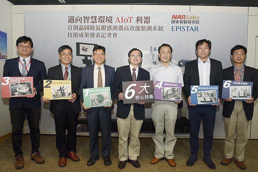國研院發表世界首創的「晶圓級氣體感測器高效能點測系統」,儀科中心大秀六大核心技術...