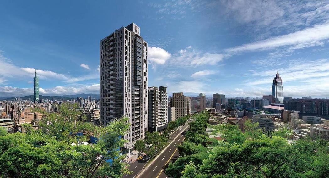 位於中山北路一段的「璞園醇建築」是中山官道上最高的建築,未來將與台北雙子星、新光...