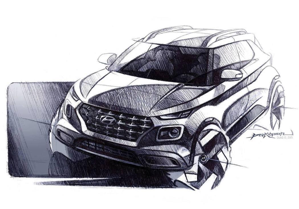 全新Hyundai Venue設計草圖。 摘自Hyundai