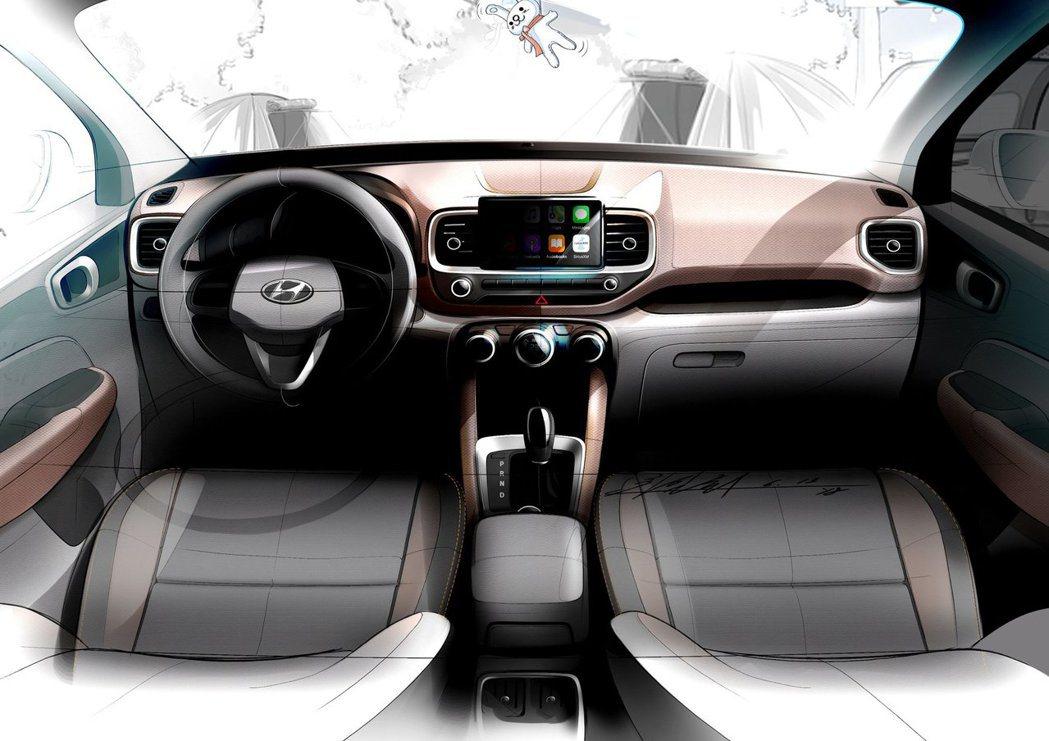 全新Hyundai Venue內裝設計草圖。 摘自Hyundai