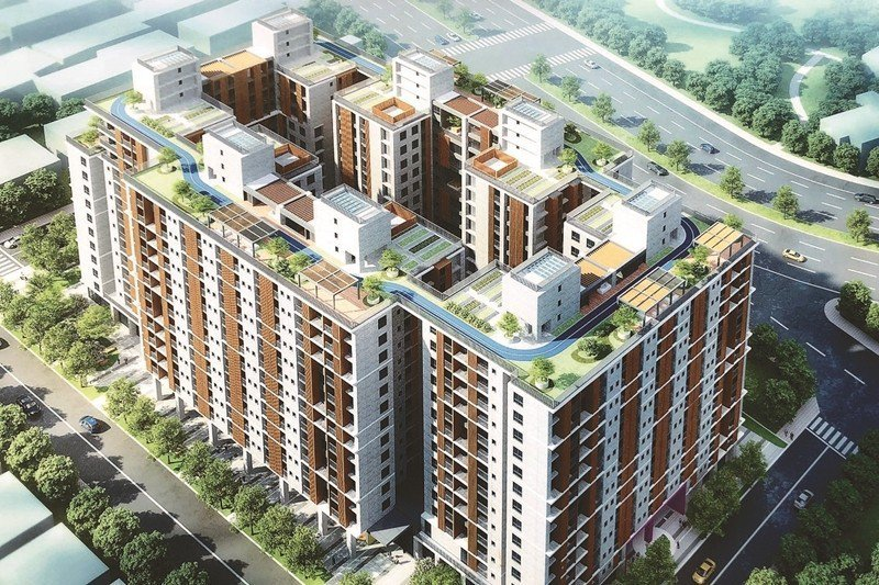 圖為台中東區尚武段社會住宅,是目前台中戶數最大的社宅案之一,共802戶。 圖/聯...