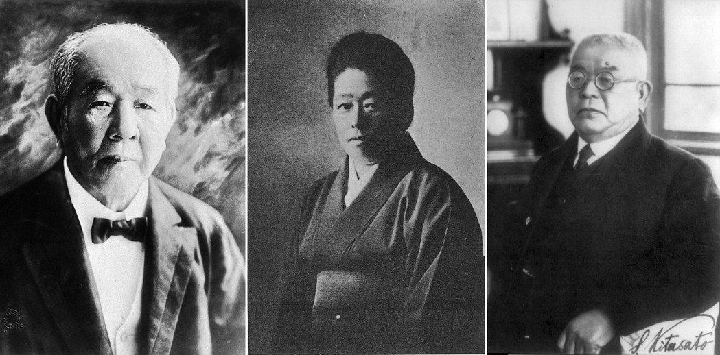 新鈔三人組,由左至右:近代日本經濟之父澀澤榮一、女性教育先驅津田梅子、日本細菌學...