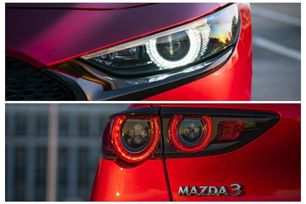 全新Mazda3的頭燈及尾燈組件具有十分乾淨的設計風格。 圖/Mazda提供