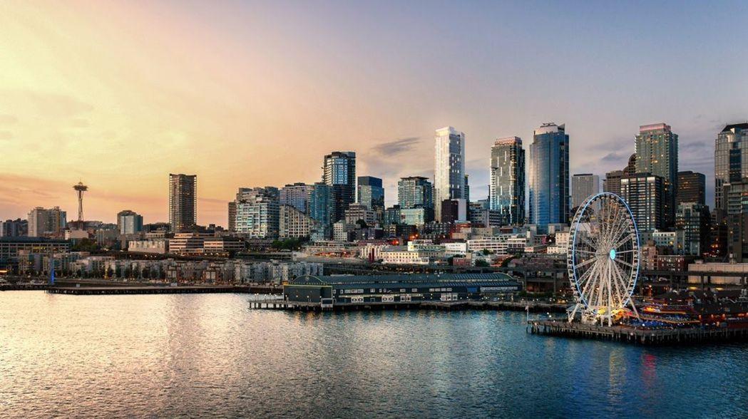 益立信-西雅圖海岸知名觀光熱點海景高樓林立。