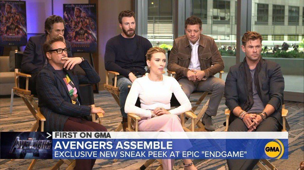 「復仇者聯盟:終局之戰」眾要角開始參加電視宣傳。圖/翻攝自goodmorning