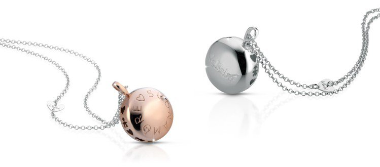 leBebé聽愛系列The Moons純銀鍍玫瑰金滿月造型吊墜,約3,500元...