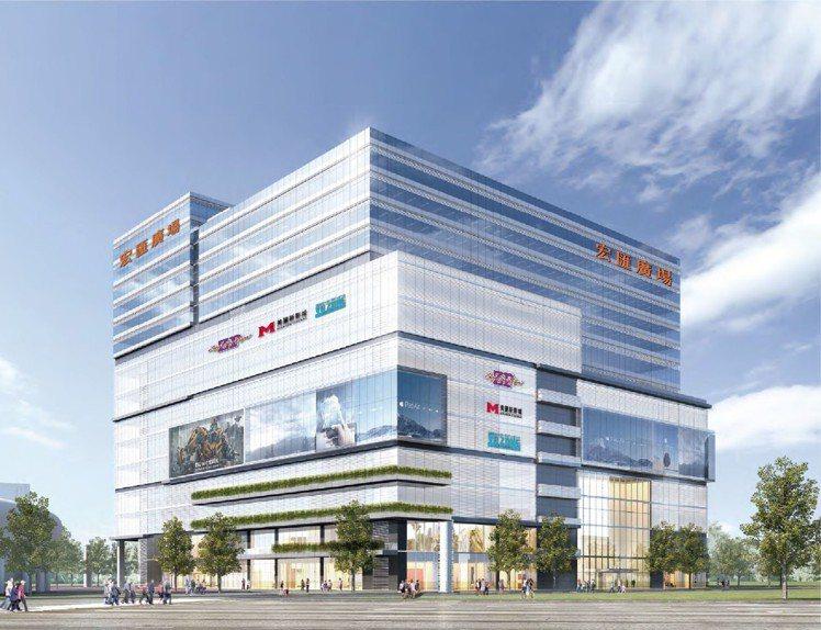 占地2.6萬坪的宏匯廣場,預計於2020年第一季開幕,也是當地唯一的百貨商場。圖...