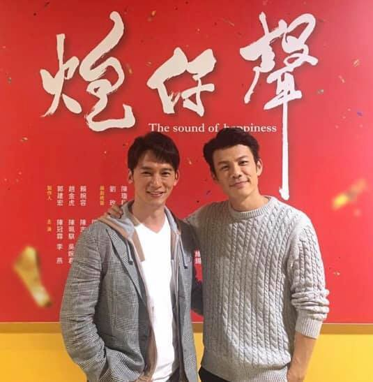溫昇豪(左)探陳志強班,兩大渣男合體。圖/摘自臉書