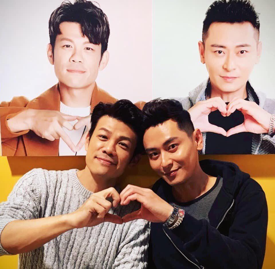 陳志強(左)和陳冠霖私下感情很好。圖/摘自臉書
