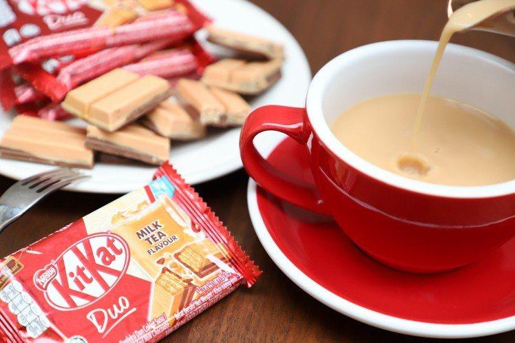 「雀巢奇巧奶茶風味巧克力」四指包售價39元。圖/雀巢提供